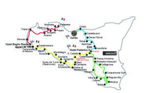XXVI GIRO di SICILIA - Mappa